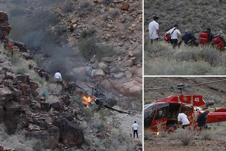 Three British tourists killed in Grand Canyon helicopter crash named as its revealed three miracle survivors spent night in valley in storm
