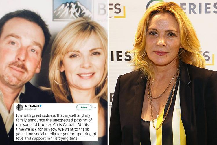 Kim Cattrall announces 'unexpected death' of younger brother Chris after he went missing