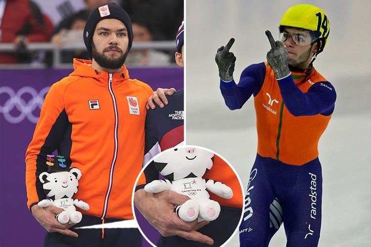 Winter Olympics 2018: Speed skater Sjinkie Knegt denies sticking middle finger up at winner AGAIN
