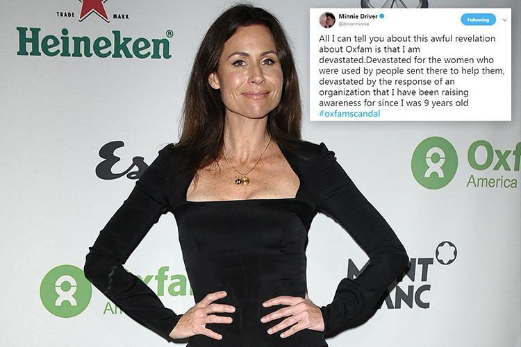Minnie Driver QUITS as Oxfam celeb ambassador and slams charity for 'abhorrent mistakes'