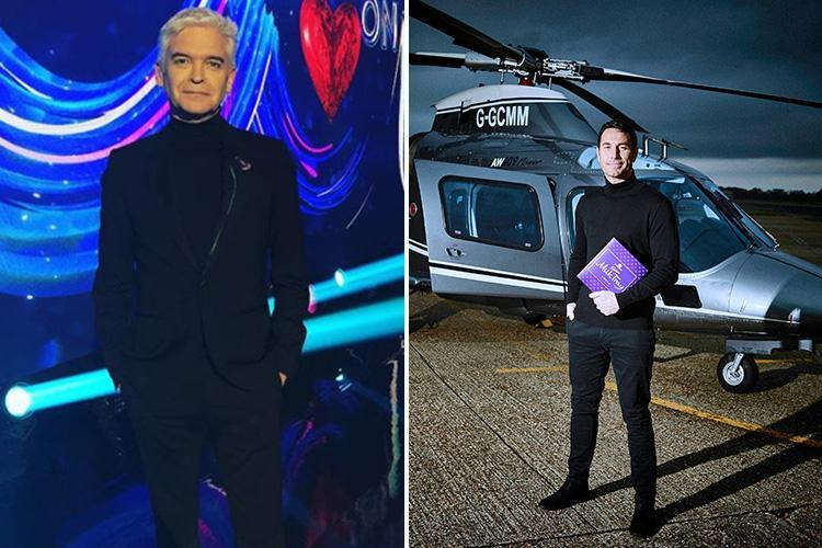Dancing On Ice viewers think Phillip Schofield looks like the Milk Tray Man as he wears all black outfit