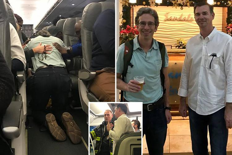 Dramatic moment hero plane passengers save woman's life with makeshift breathing device after she collapsed mid-air on JetBlue flight