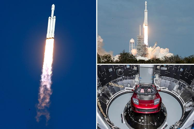 World's most powerful rocket launches Elon Musk's Tesla car to MARS while playing David Bowie's Space Oddity on its radio