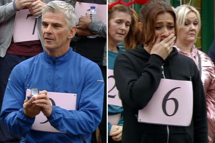 Coronation Street fans thrilled as Robert Preston proposes to Michelle Connor after charity run