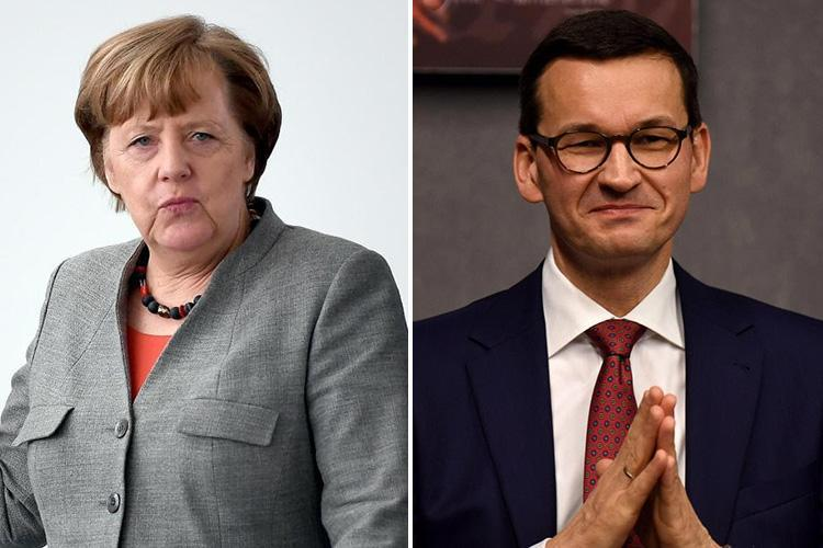 Angela Merkel's Germany is a 'free rider' and a 'threat to the West' storms Polish PM Mateusz Morawiecki as military leaks reveal the country hasn't got enough tanks to send to NATO