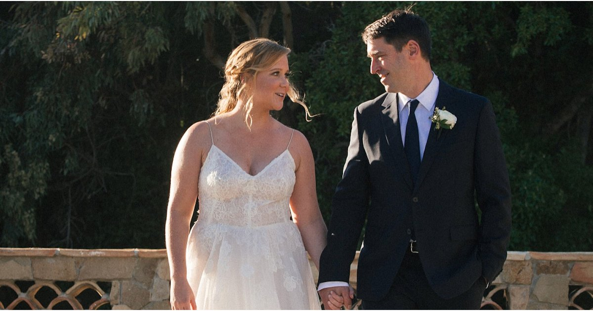 Amy Schumer Got Married in the First Dress She Tried On, and We're Here For It