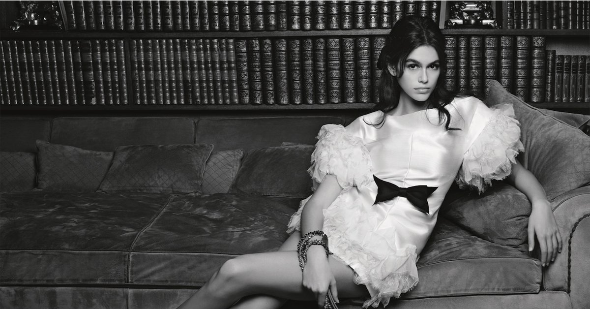 Kaia Gerber Dangles Her Legs Over Coco Chanel's Couch For Her First-Ever Chanel Campaign