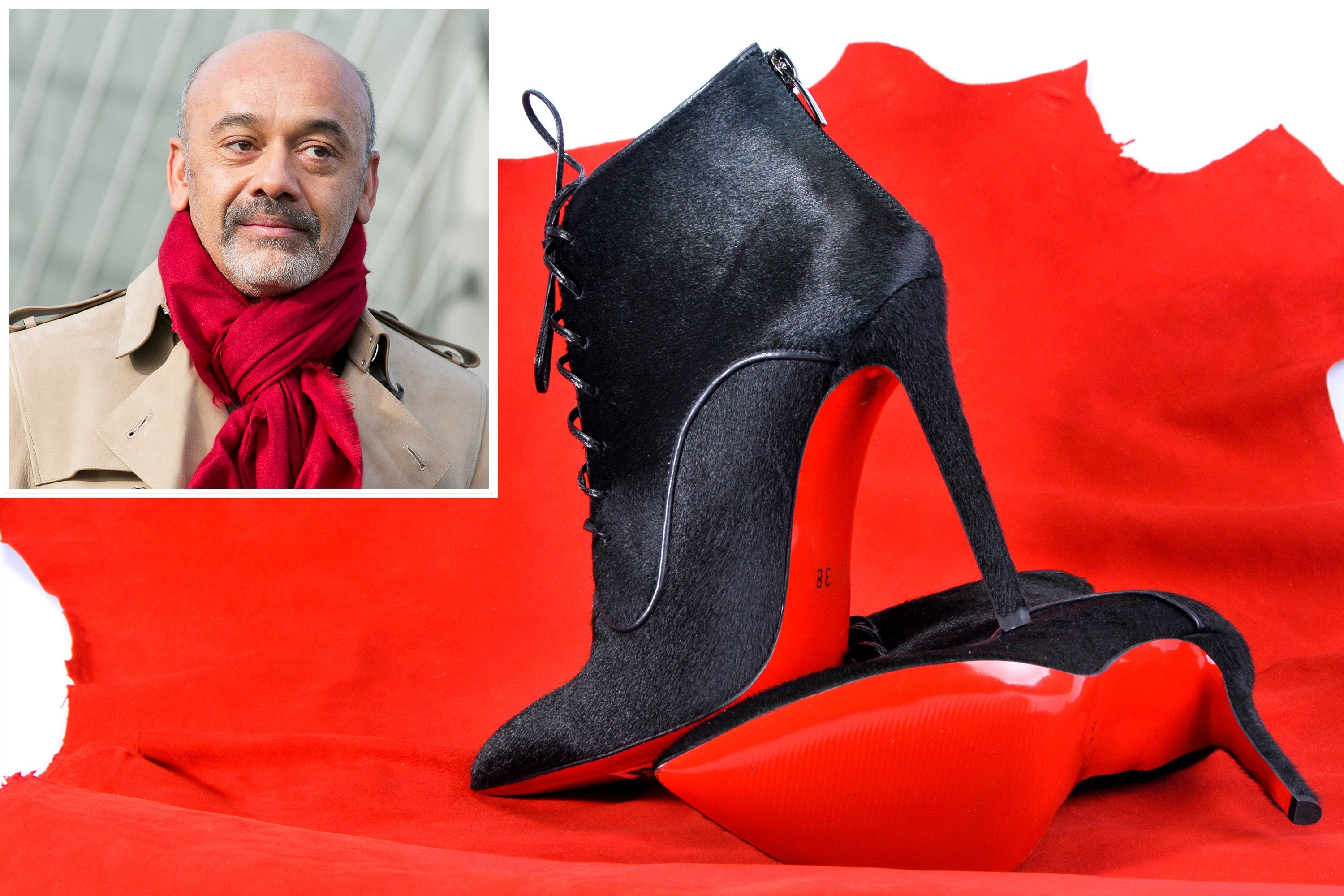 Christian Louboutin scrambles to trademark his red-soled shoes
