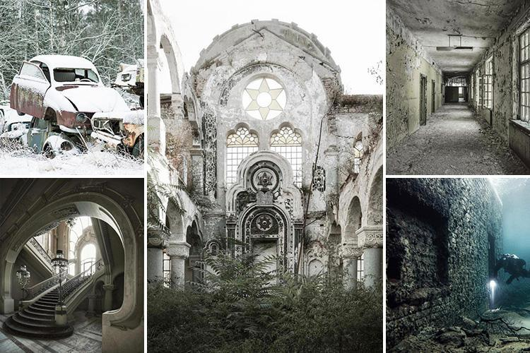 Eerie pics show inside sunken Soviet prison and abandoned mansions and mental hospitals in Europe's icy north