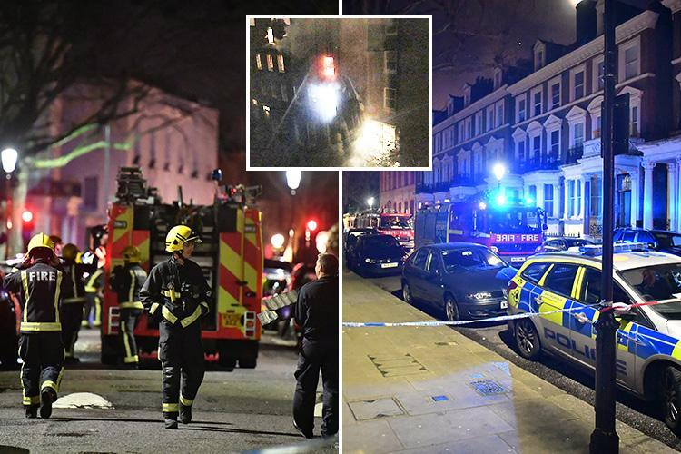 Holland Park fire – Man dies as more than 80 firefighters battle flat blaze on 'Millionaire's Row' where Simon Cowell and Robbie Williams live