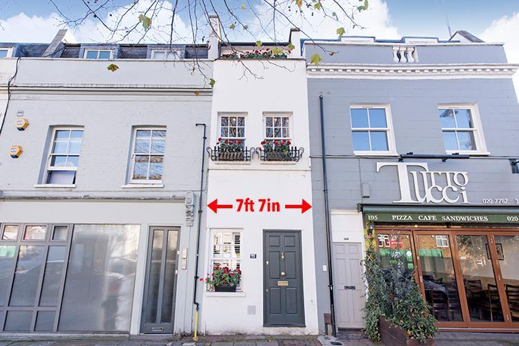 Tiny London home is narrower than a Tube carriage… but it will still set you back £1million