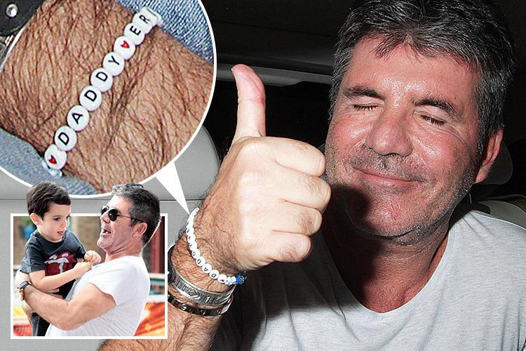 Simon Cowell shows off adorable 'daddy' bracelet made by his son Eric as he leaves Britain's Got Talent