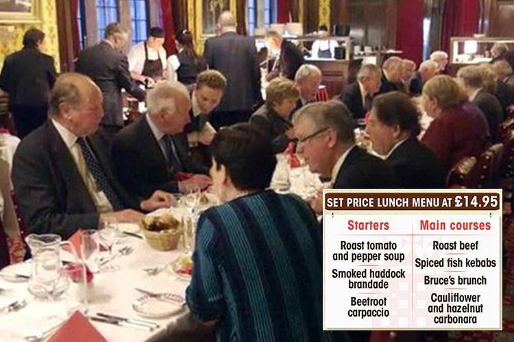 'Horrible' grub in taxpayer-subsidised dining room in House of Lords as peers whine it even raises 'health issues'