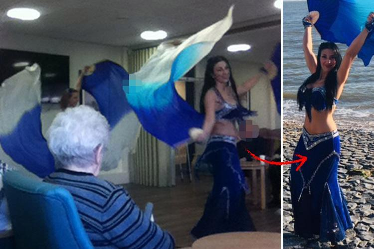 OAPs treated to BELLY dancers just a day after pole dancing performance was filmed at Dorset care home