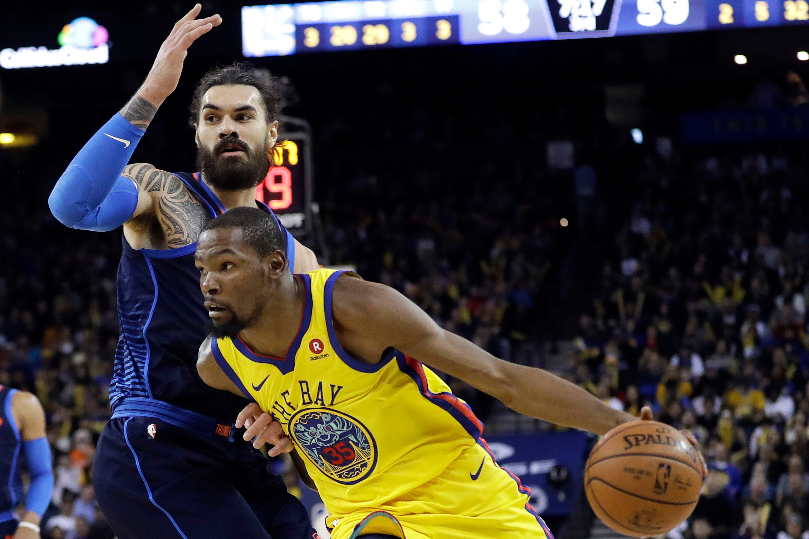 Warriors and Kevin Durant finally beat the Thunder again