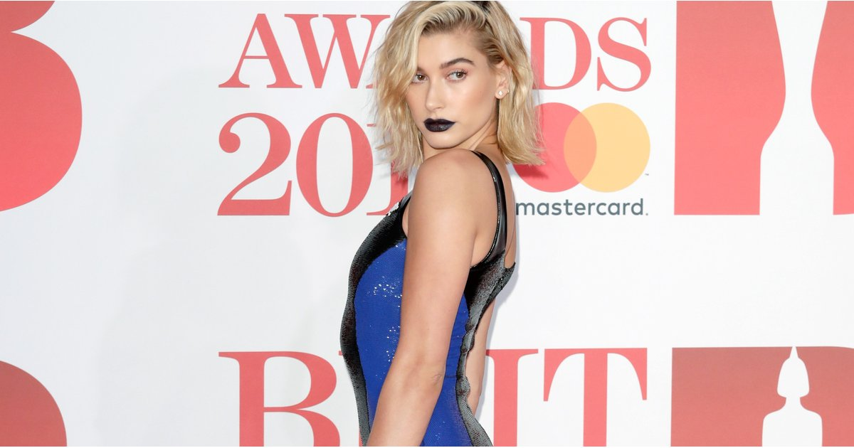Hailey Baldwin's Futuristic Brit Awards Dress Is Giving Us Blade Runner Vibes