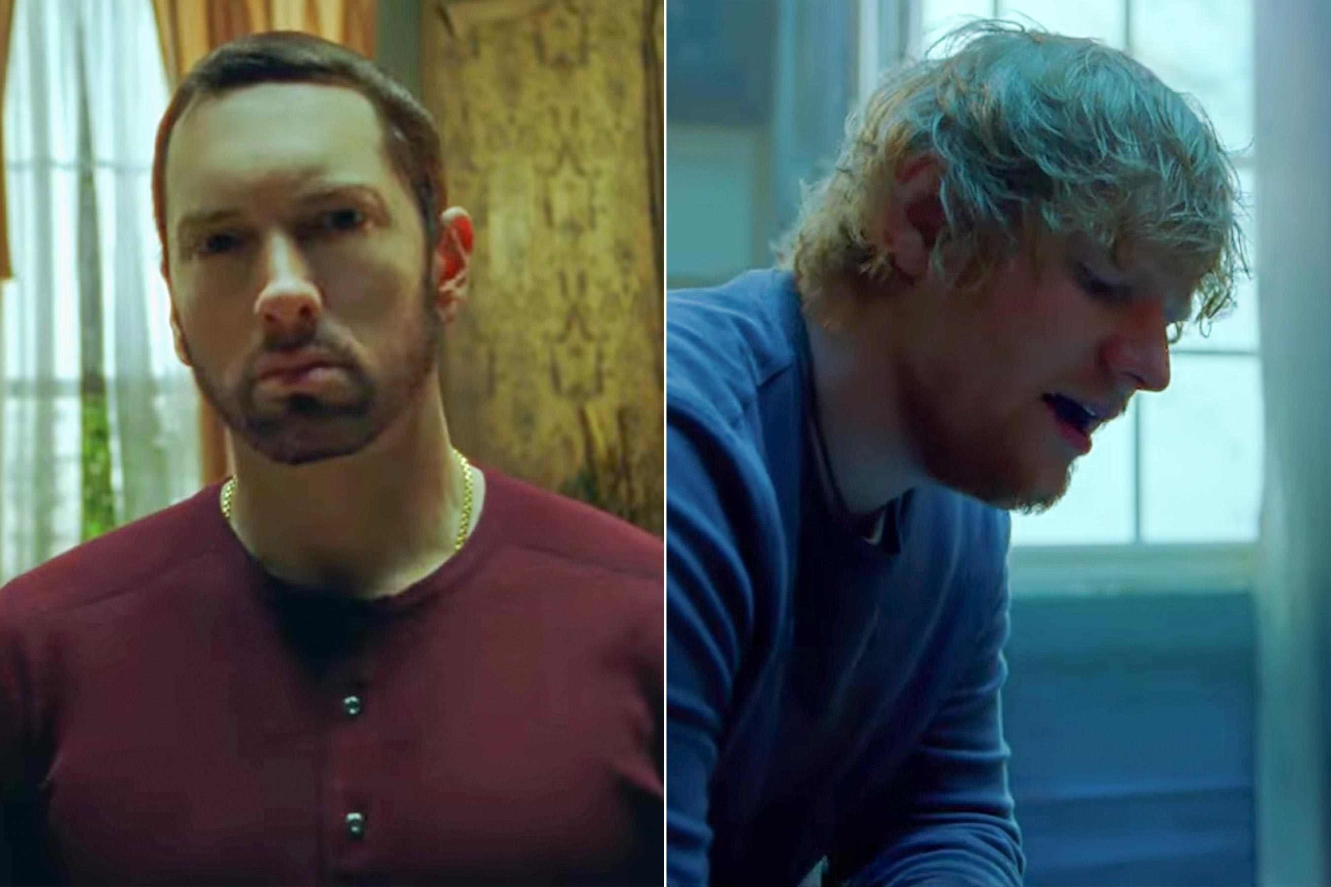 Eminem shares painful River video starring Ed Sheeran