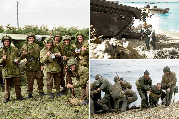 Incredible colour snaps bring World War II to life and reveal the bravery of the Allied soldiers who fought in it