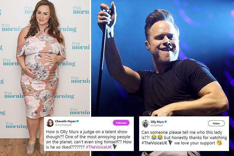 Chanelle Hayes gets into a Twitter spat with Olly Murs after she calls him 'one of the most annoying people on the planet'