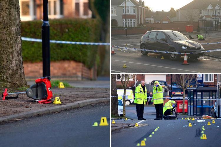 Coventry hit-and-run crash kills boy, 2, and brother, 6, after 'drink driver ploughed into them as they crossed road with their mum'