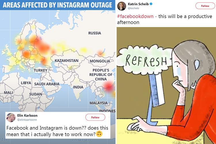 Facebook down along with Instagram as users around the world report problems with social networks