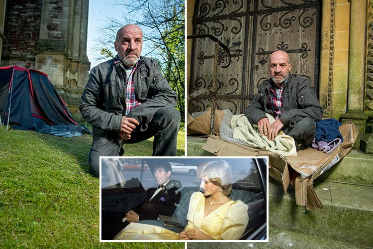 Hero war vet, 50, who was Prince Charles and Diana's driver left homeless sleeping in bushes and feeding off scraps