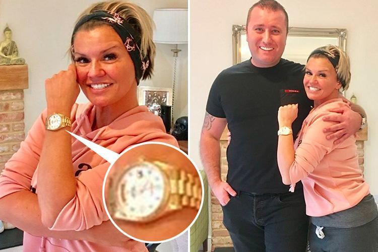 Kerry Katona fans concerned about her security as she shows off expensive Rolex