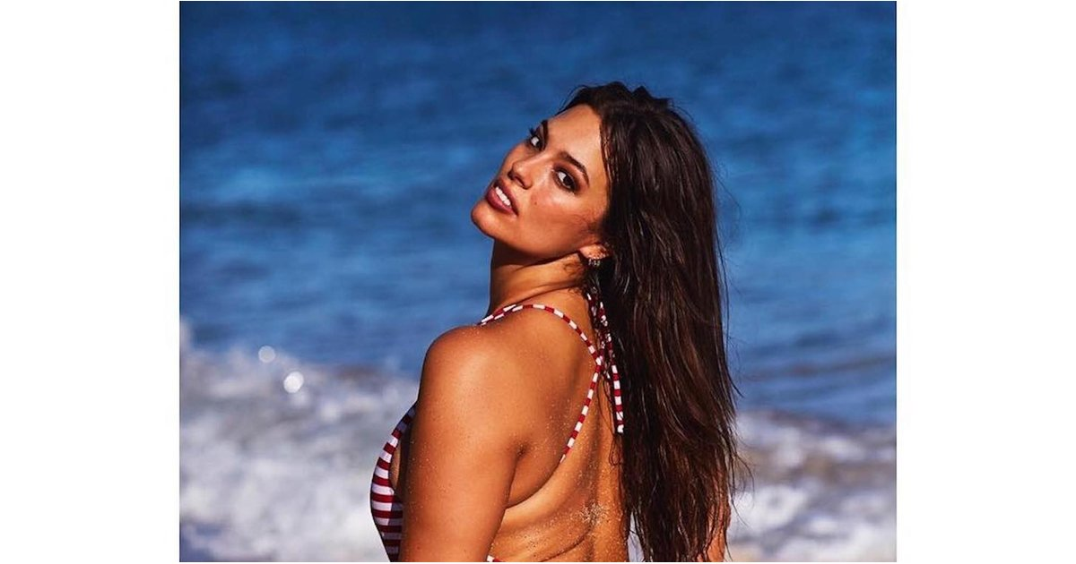 Ashley Graham Won't Let Stretch Marks and Cellulite Stop Her From Rocking a Thong Swimsuit