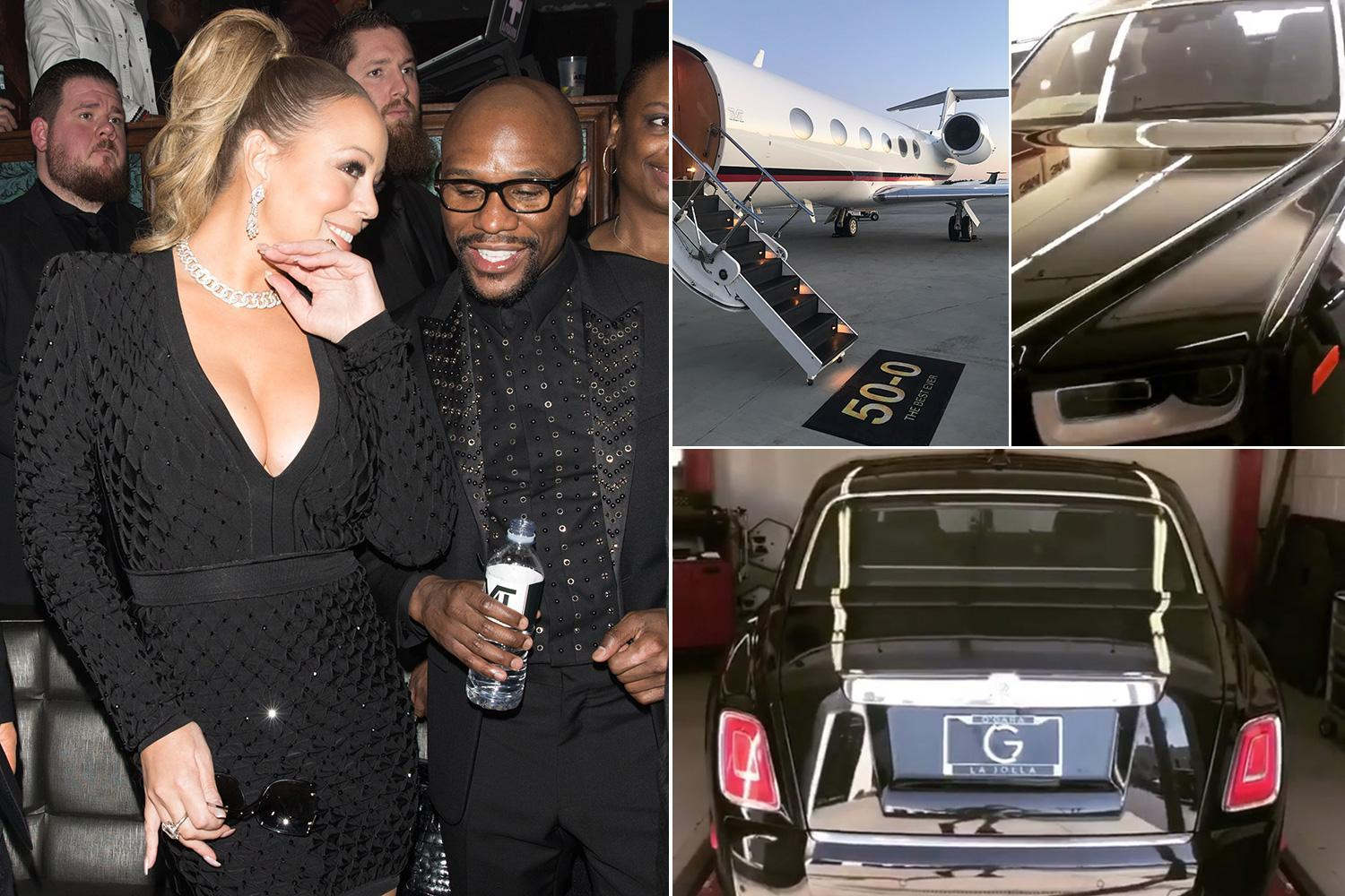 Floyd Mayweather shows off £320,000 2018 Rolls Royce Phantom to go alongside new private jet as boxer turns 41