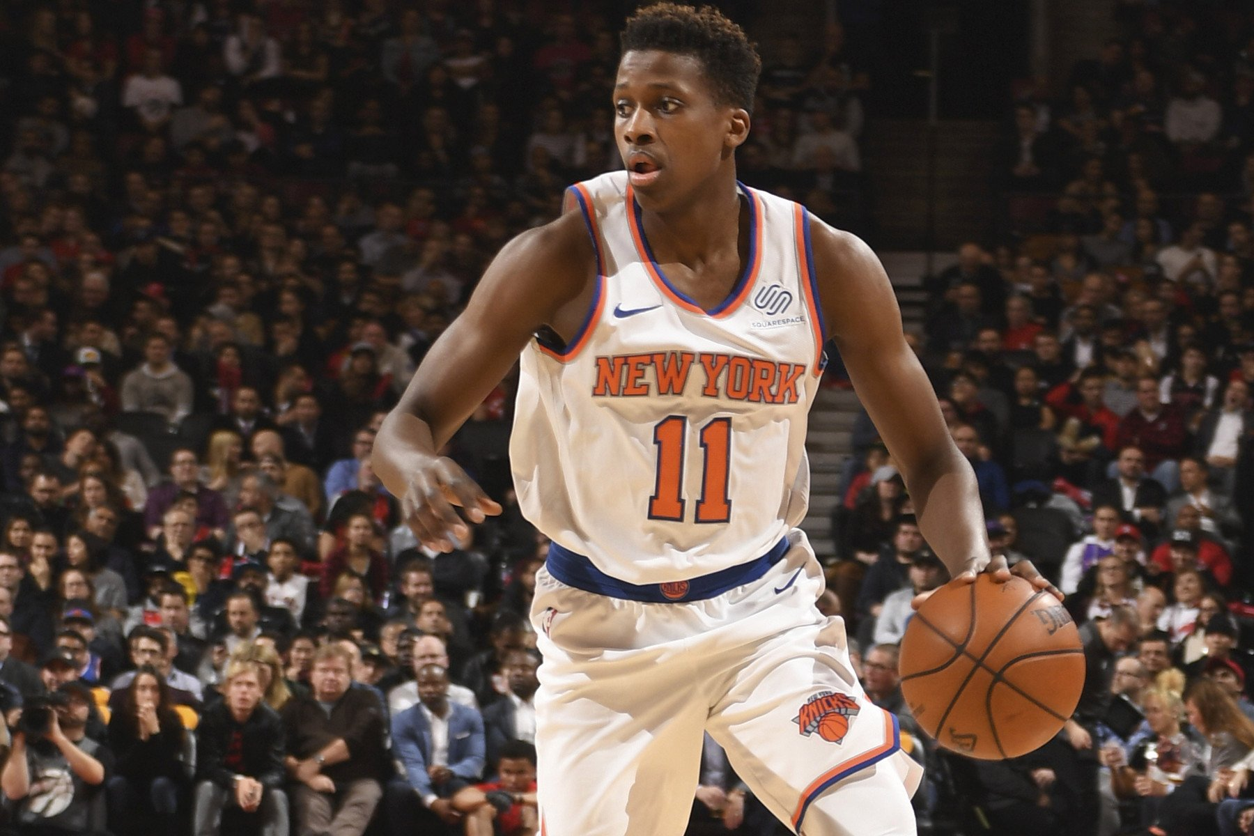 Frank Ntilikina sounds OK with his new guard competition