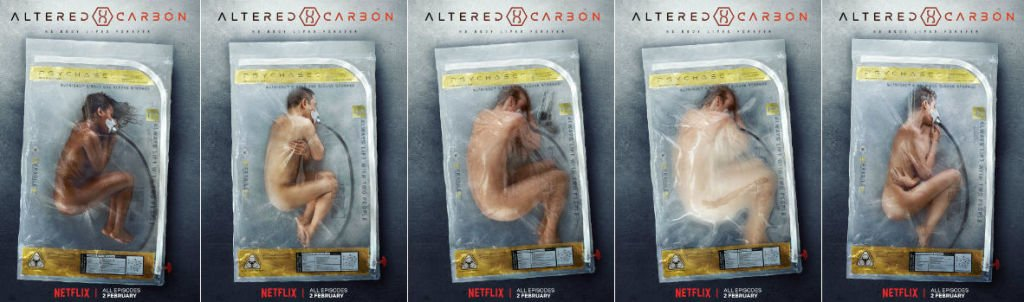 Altered Carbon creeps people out with bus stop ad