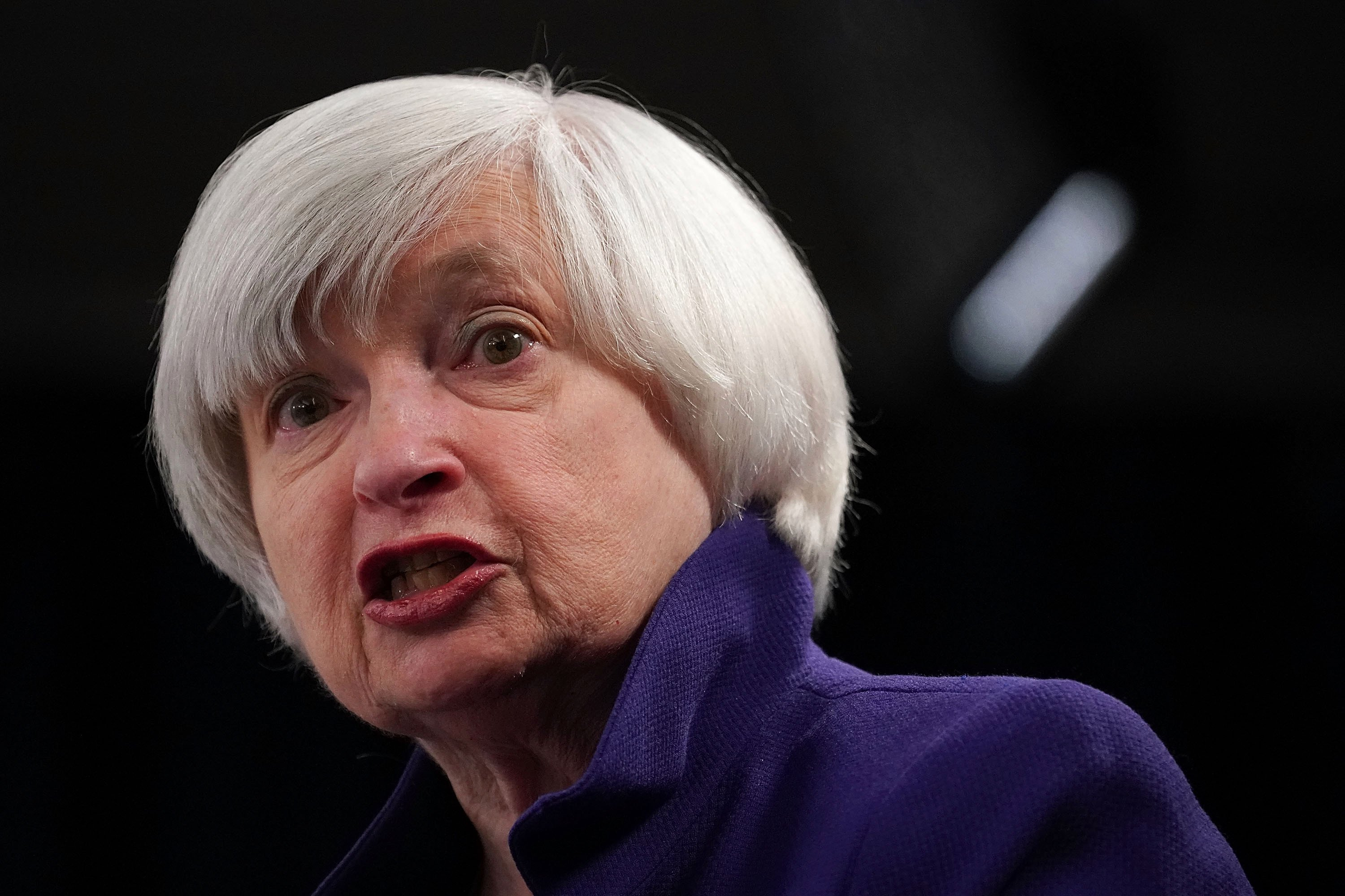 Yellen fears bubble as stock market sees sharp decline