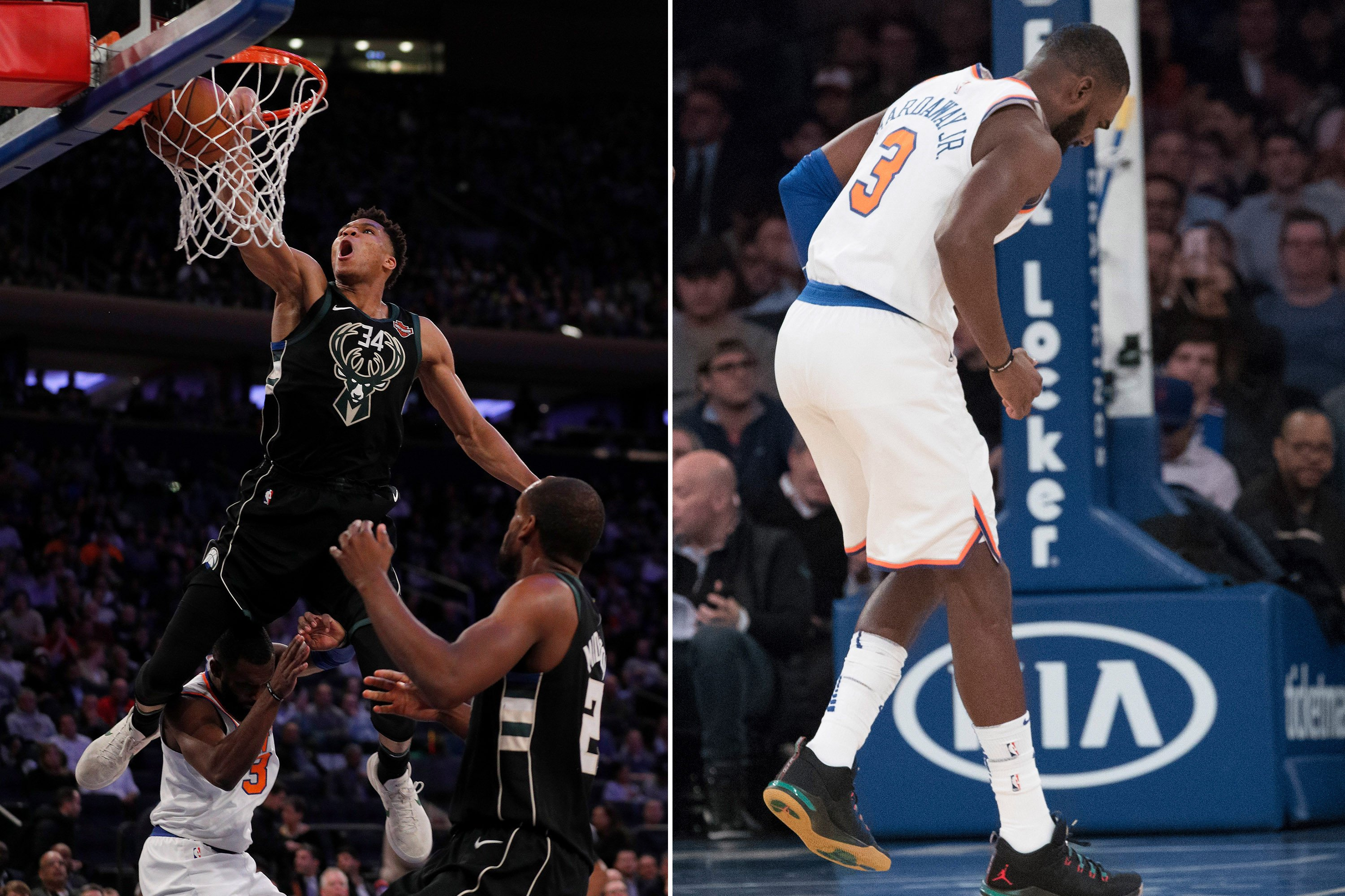 Greek Freak posterizes Tim Hardaway with over-the-body dunk