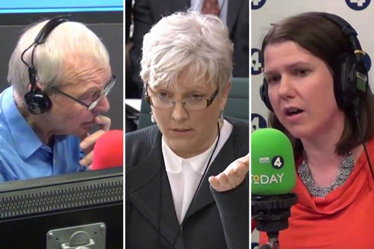 John Humphrys ambushed live on air over Carrie Gracie gender pay gap jibe by Jo Swinson
