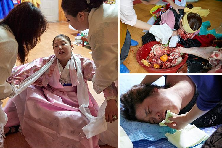 Inside South Korea's bizarre mudangs 'gut' ritual where shamans exorcise ghosts and drink pig's blood