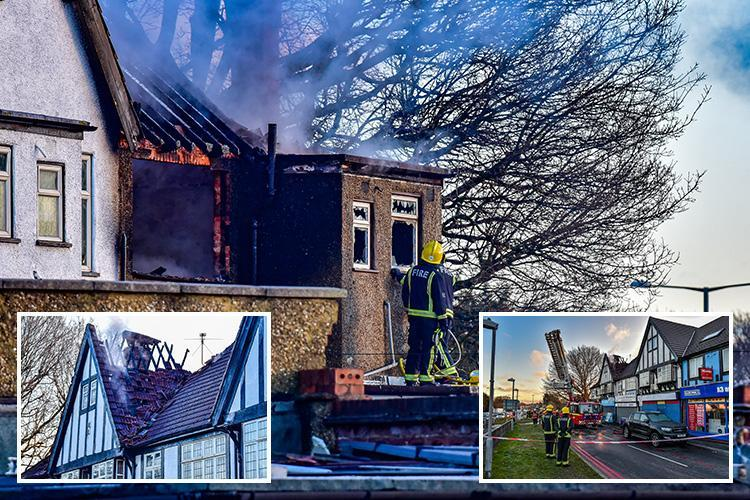 Tolworth fire leaves two dead and five injured after huge blaze destroys shops and flats by A3 in southwest London