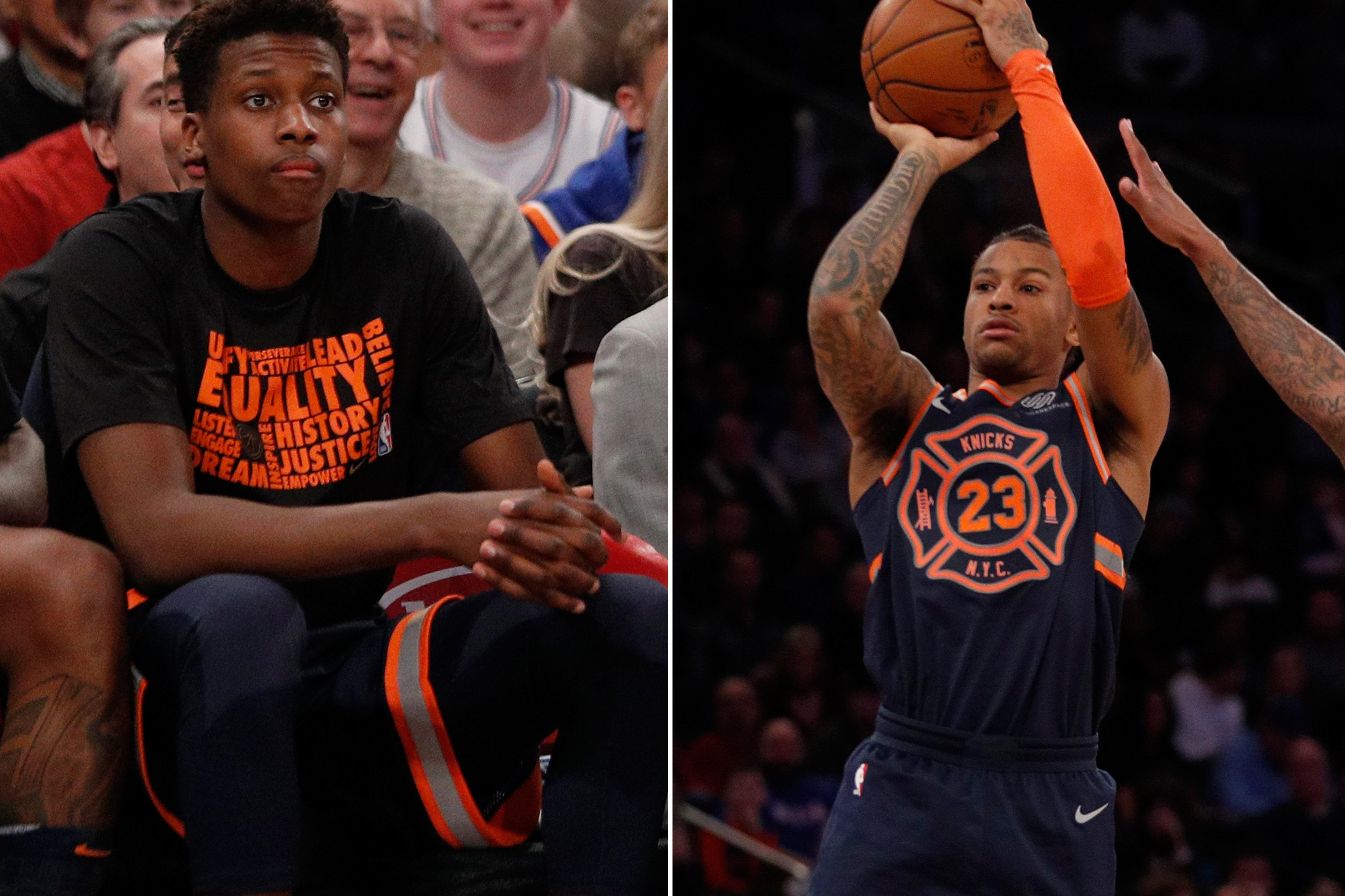 Trey Burke and Frank Ntilikina are heading opposite directions