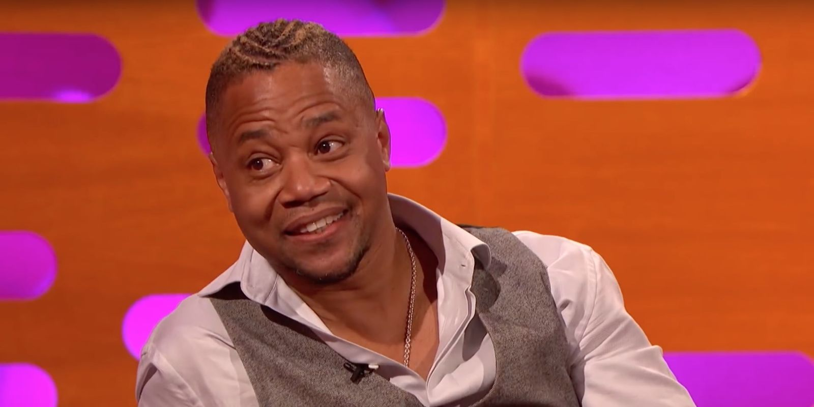 "People v OJ's Cuba Gooding Jr says people shout ""Show Me The Knife"" at him"