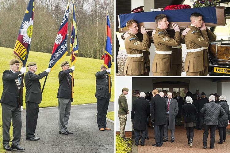 Dozens pay tribute to WW2 hero, 97, who died alone with no family as he is laid to rest with military honours