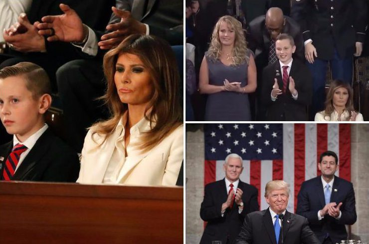 Melania stayed SEATED during Donald Trump's 'faith and family' speech amid porn star romp rumours