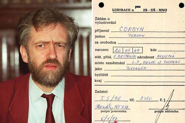 Jeremy Corbyn was paid by Communist spies to report on Britain and 'rated by Moscow as number one', former Czech agent says