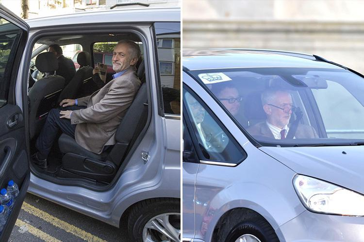 Jeremy Corbyn is chauffeured to work in pollution-pumping car – despite his council's demands for diesel bans