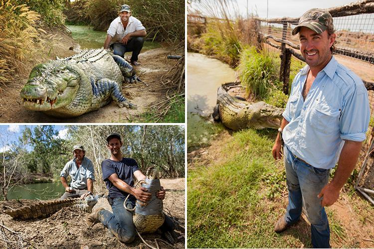 Monster Croc Wrangler Matt Wright loves wrestling massive beasts with his bare hands