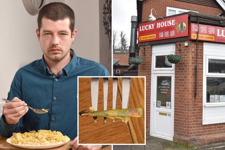 Mechanic horrified after finding 'half smoked cigarette in a Chinese takeaway he was part way through eating'