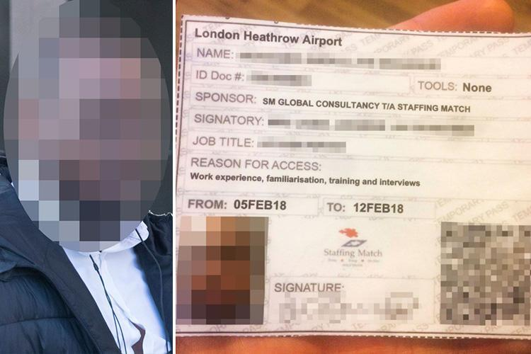 Terror suspect and career criminal 'caught working at Heathrow Airport and given access to runway'