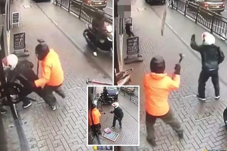 Towie jewellers raided by smash-and-grab moped thugs – before have-a-go heroes fight them off