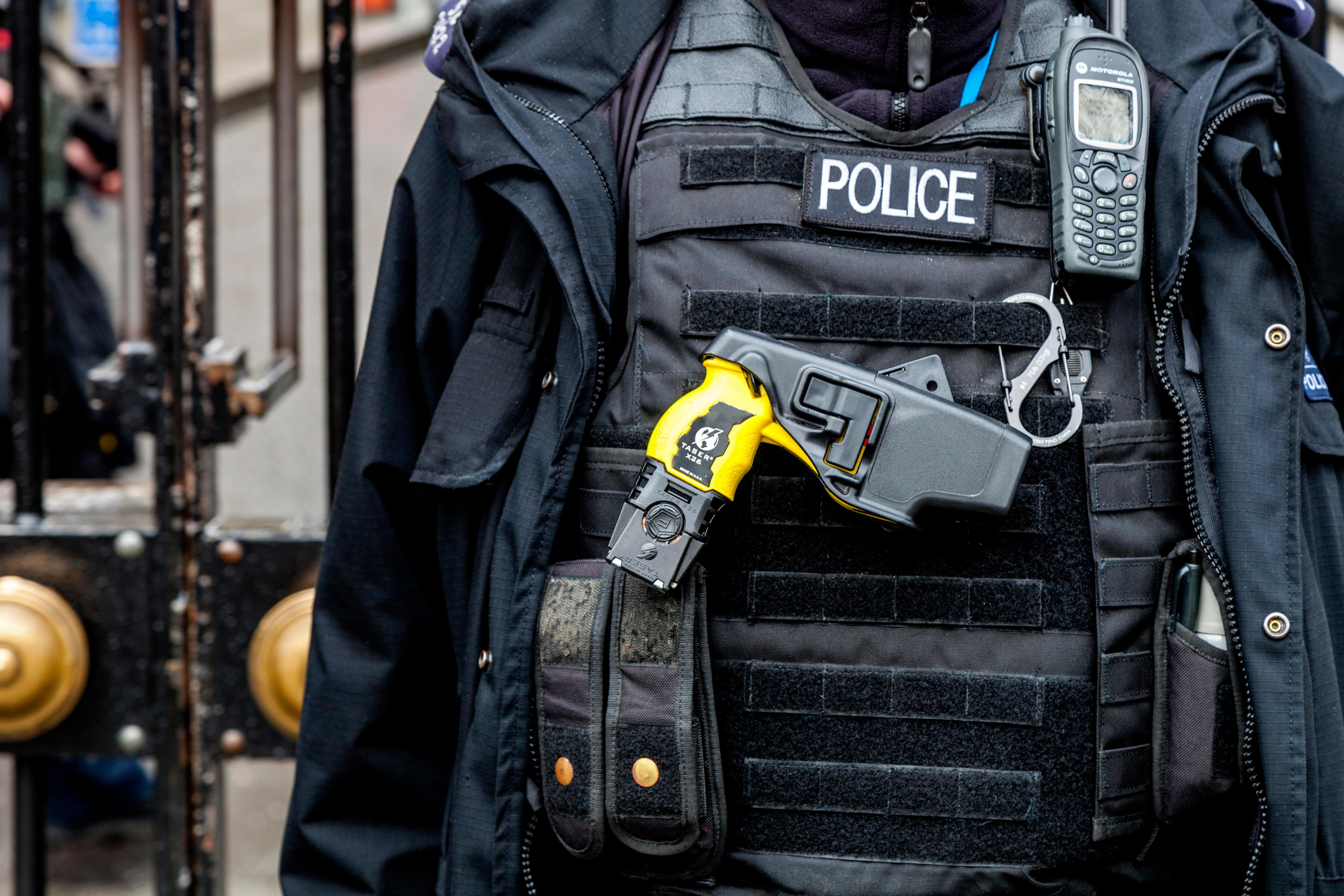 Police chiefs call for new recruits to carry TASERS in bid to tackle rising violent crime and terror threat