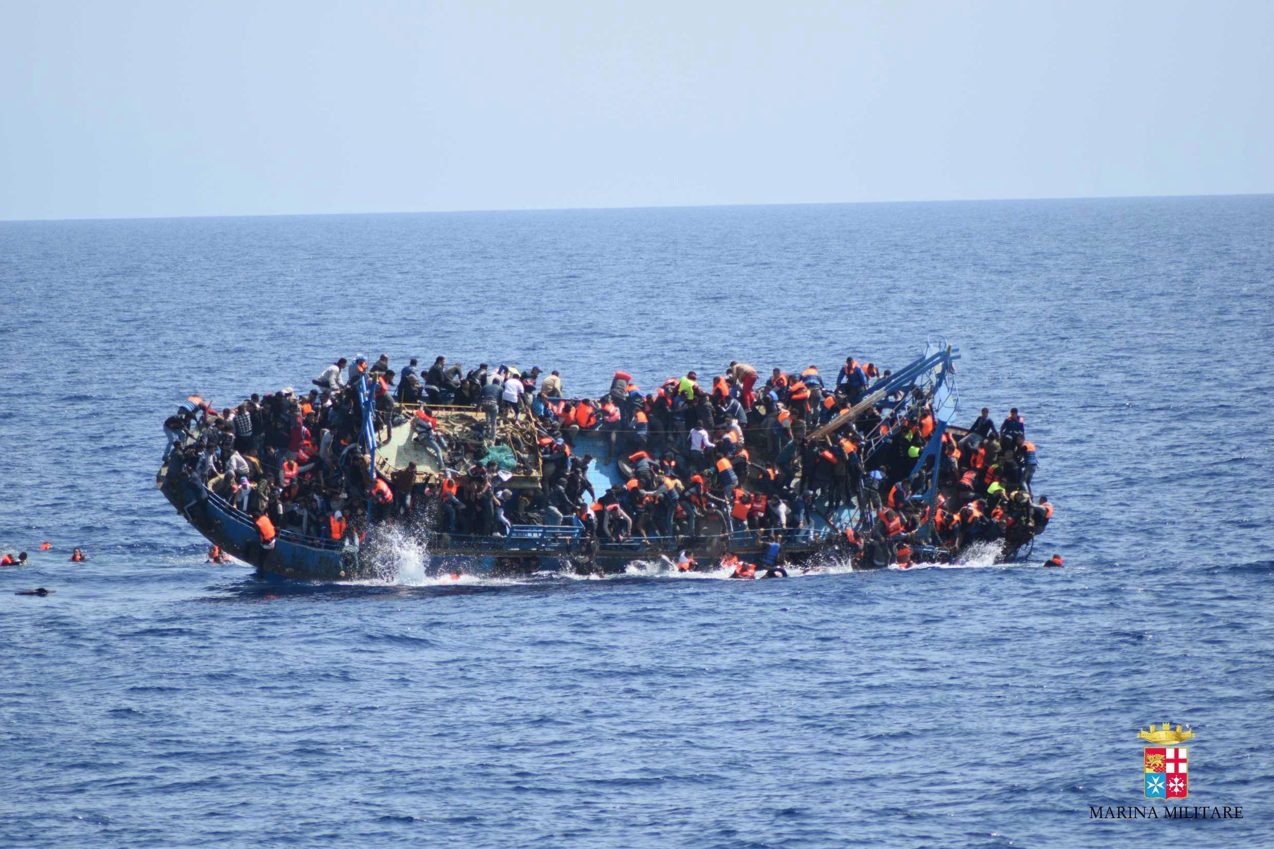 90 migrants feared dead after boat capsizes in the Mediterranean leaving just three survivors as they tried to reach Europe