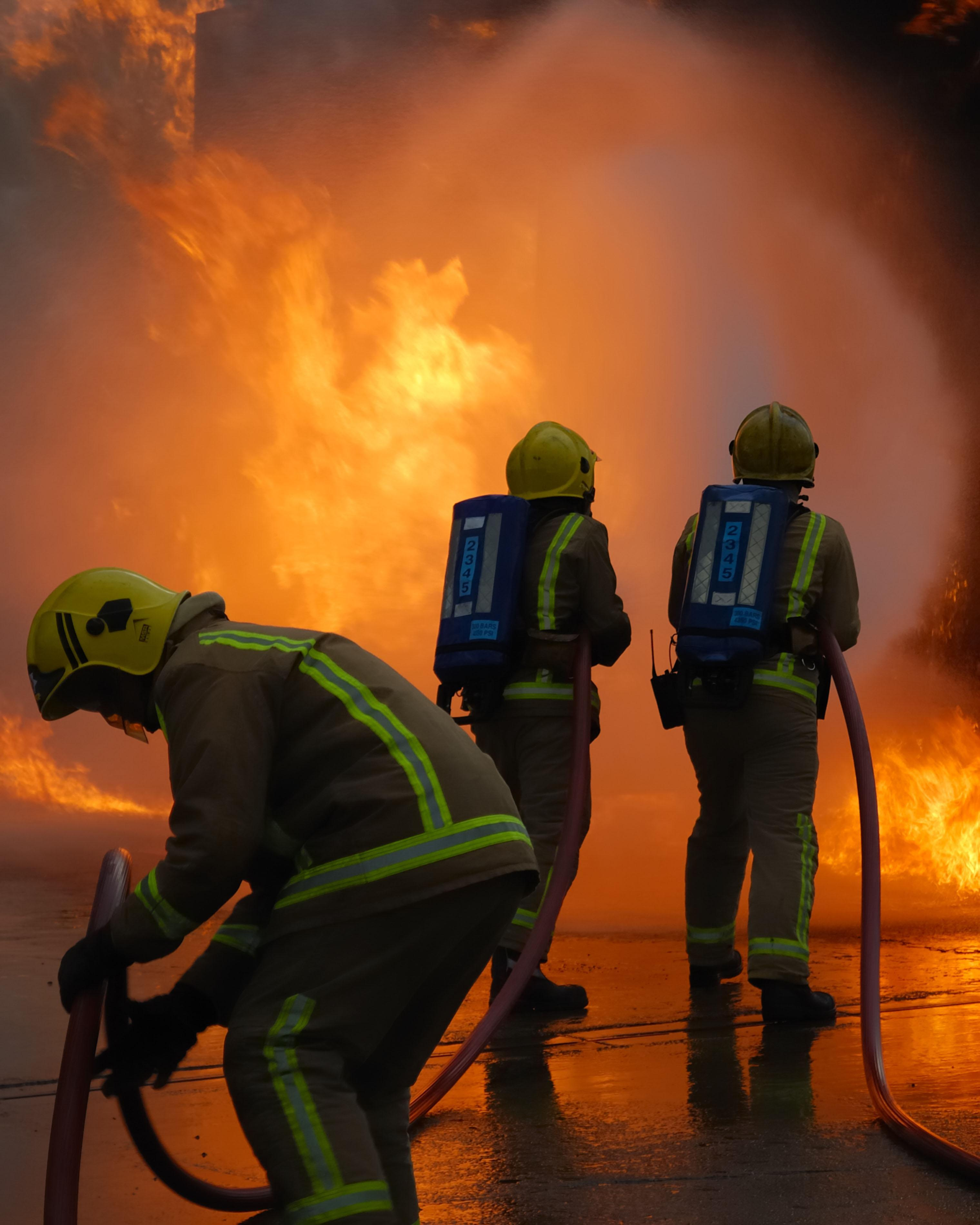 Firefighter trio tell police they started blazes 'for sheer joy of putting them out'