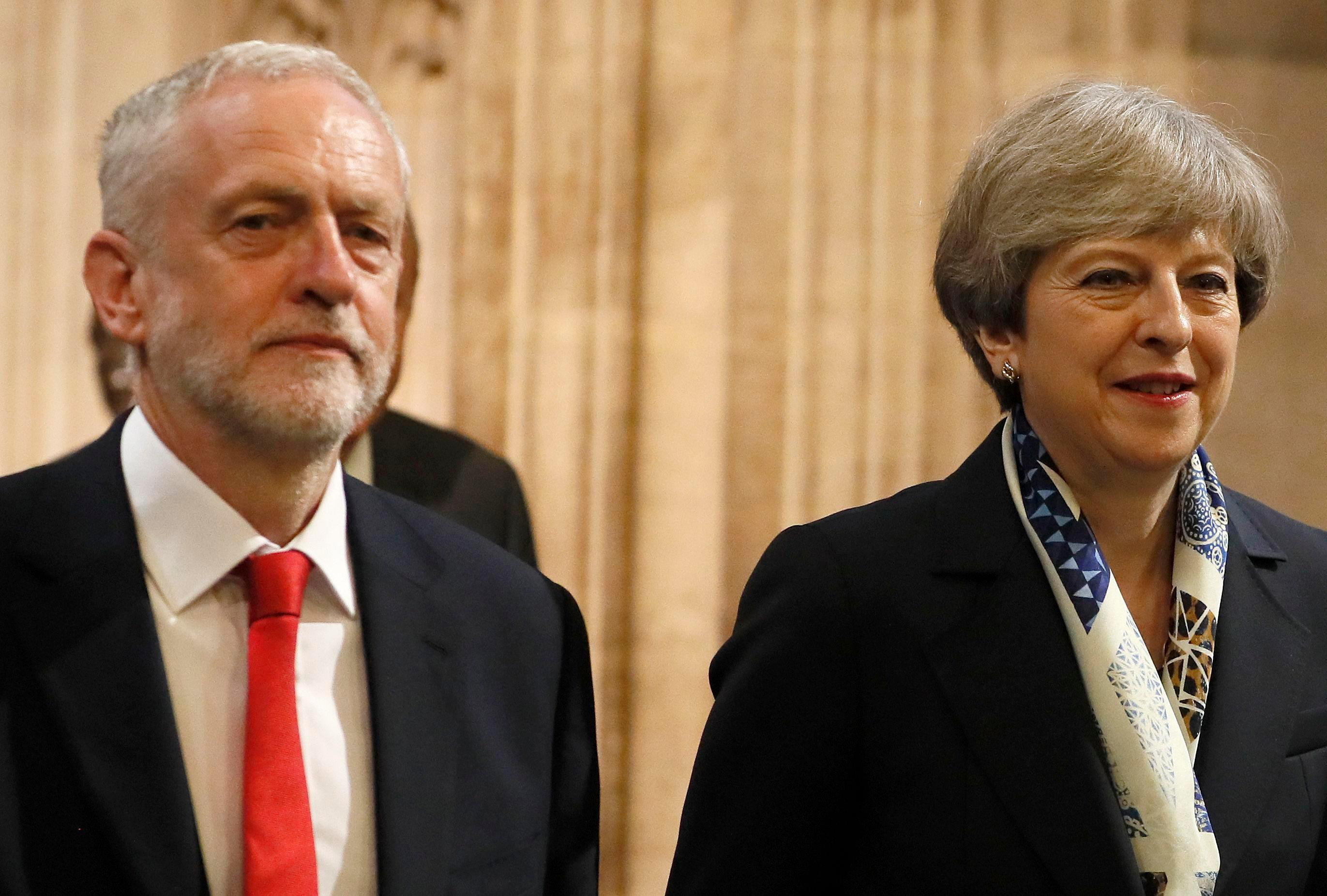 Theresa May still ahead of Jeremy Corbyn on who makes the better Prime Minister despite masses of infighting and a minister threatening to quit